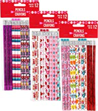 Valentine Themed Wooden No.2 Pencils, 12-ct. Packs (3 Packs of 12 Pencils)