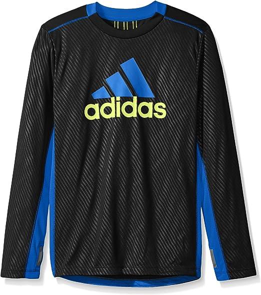 Amazon.com: adidas Boys' Performance Logo Long Sleeve Tee Shirt ...