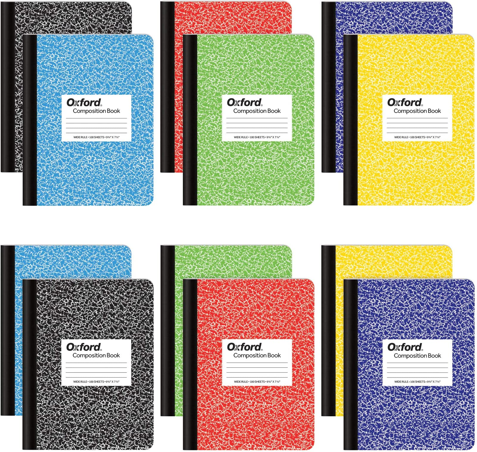 5 Pack Staples Assorted Colors Composition Book 9 /¾ in X 7 /½ in