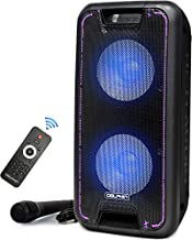 """Dolphin SP-210RBT Portable Bluetooth Party Speaker on Wheels with Lights, 10"""" PartyBox"""