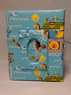 Baby Boy Photo Album - Noahs Ark Photo Album - Holds 100 4 x 6 Photos - Handmade - So Cute!