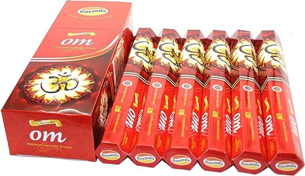Govinda Incense OM 120 Incense Sticks Premium Incense Masala Coated