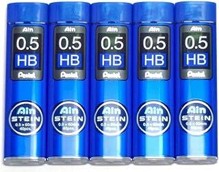 Pentel Ain Pencil Leads 0.5mm HB, 40 Leads X 5 Pack/total 200 Leads (Japan Import) [Komainu-Dou Original Package]