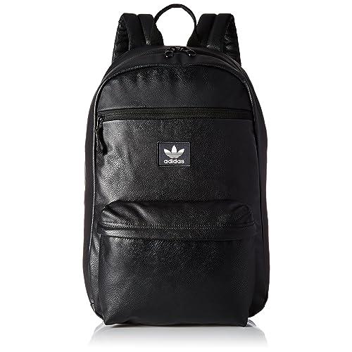 5807e89ff5a Amazon.com : adidas Originals National Backpack, Black Pu Leather, One Size  : Sports & Outdoors