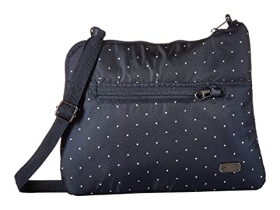 Pacsafe Daysafe Anti-Theft Slim Crossbody Bag (Navy Polka Dot) Cross Body Handbags