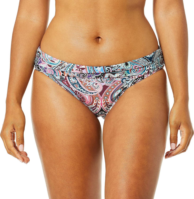 La Blanca Women's Shirred Band Hipster Bikini Swimsuit Bottom