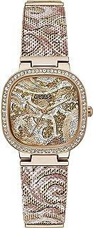 ساعة جيس كوارتز للنساء مع سوار من الستانلس ستيل - ذهبي وردي، 13.5 موديل GW0304L3