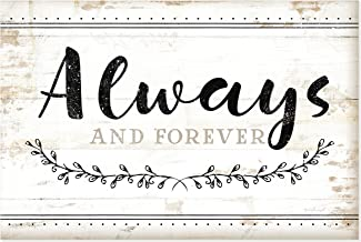 Always and Forever Rustic Wood Shiplap Style Wall Sign 12x18