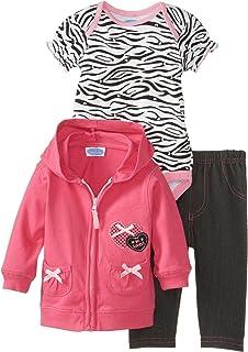 BON BEBE Baby-Girls Newborn So Lovely Cardigan Bodysuit and Pant Set, Multi