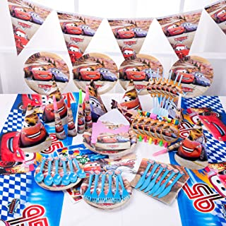 90pcs Set Cars Theme Party Disposable Tableware Set Decoration Supplies Christmas Table Cloth Set for Kids Favor Birthday ...