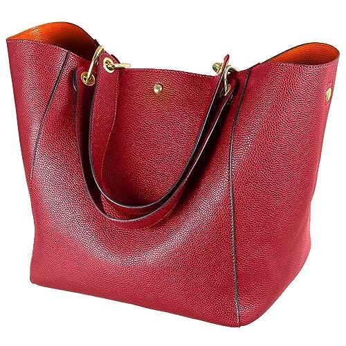 ae31b6fea4545 Taschen Damen Leder Rot 2018 SQLP Elegant Große Handtasche Europäische Stil  Schultertaschen Umhängetasche Shopper Tasche Henkeltasche