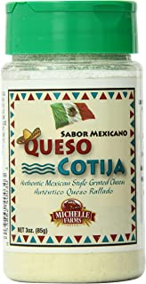 Michelle Farms Shelf Stable Cotija Cheese, 3 Ounce (Pack of 12)