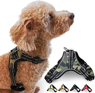Cosy Meadow Escape Proof Dog Harness Camo | Comfortable & Secure | Heavy Duty Buckle Clasp | 3M Reflective | Car Safety Seat Belt & Sturdy Handle | No Choke | 2020 Improved Ver | Large Breed