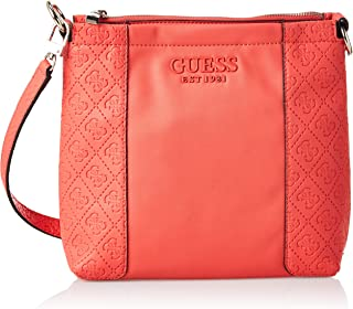 Guess Womens Cross-Body Handbag, Coral - SG766973