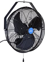 iLIVING ILG8E18-15 Wall Mount Outdoor Waterproof Fan, 18