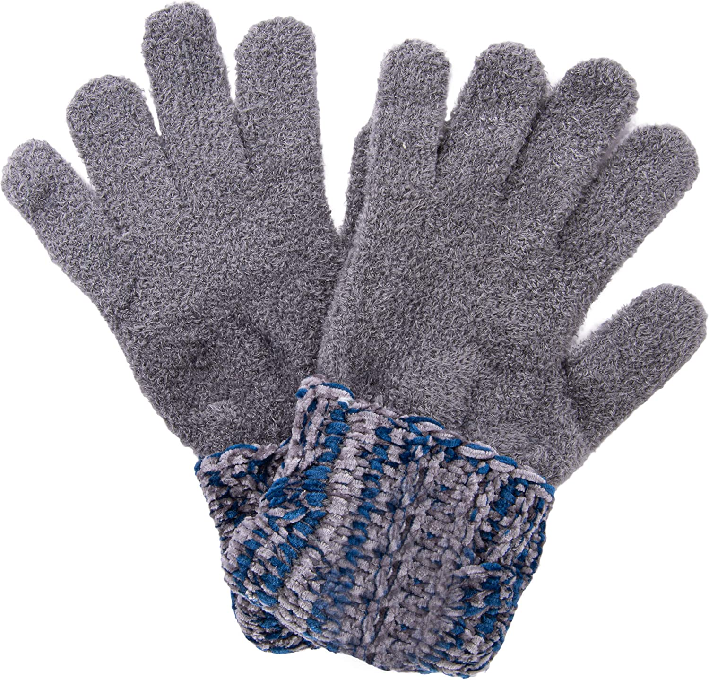 Amanda Blu Polar Chenille Magic Gloves - Blue