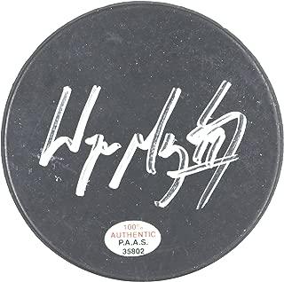 Wayne Gretzky Edmonton Oilers Signed Autographed Hockey Puck PAAS COA