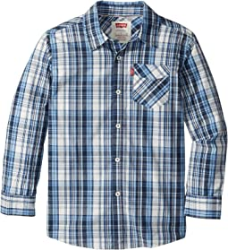 Long Sleeve One-Pocket Plaid Shirt (Big Kids)
