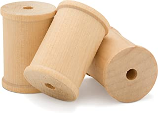 wooden thread spools for crafts