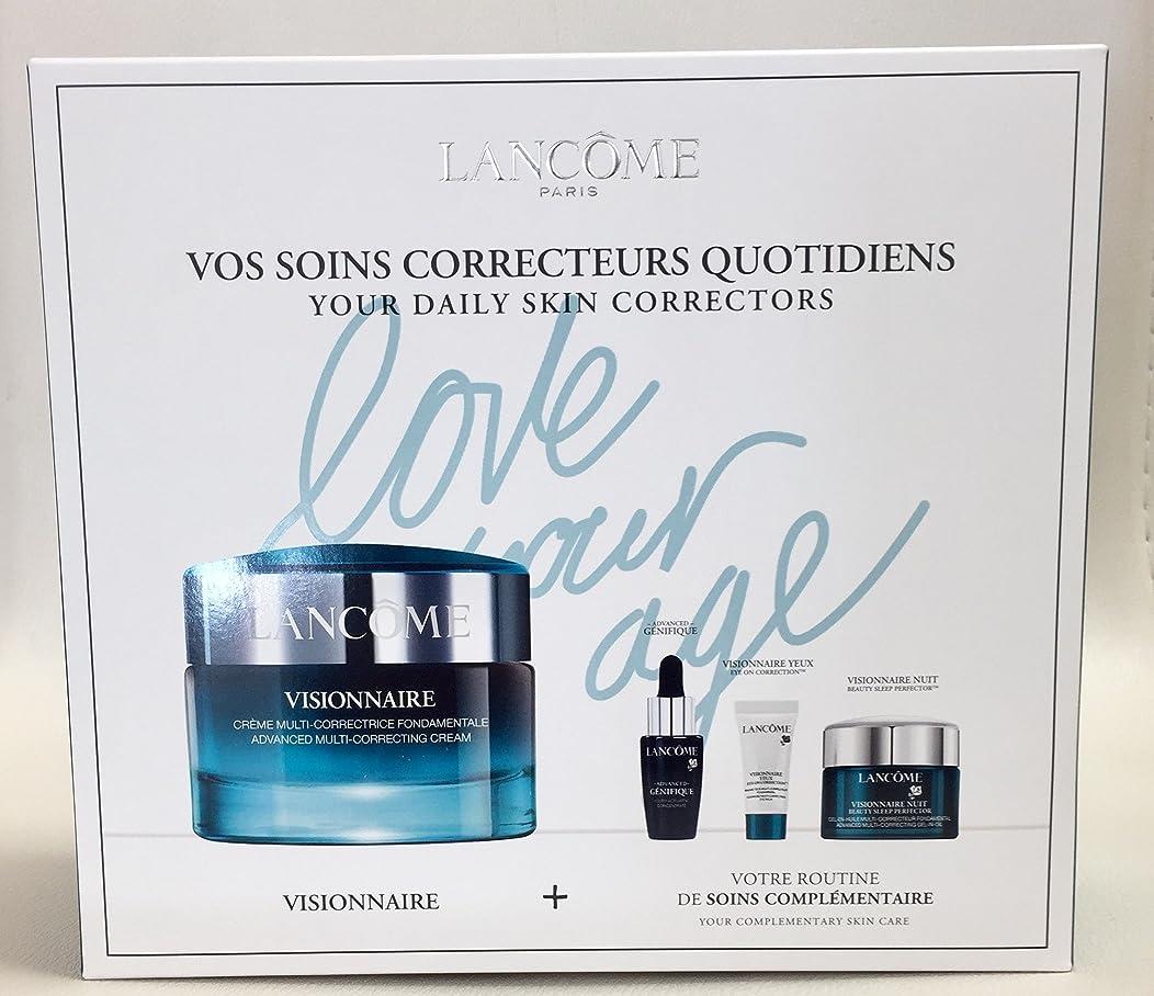 狂信者バケットデマンドランコム Visionnaire Set: Advanced Multi-Correcting Cream+Nuit Beauty Sleep Perfector+Eye Balm+Genifique Advanced Concentrate 4pcs並行輸入品