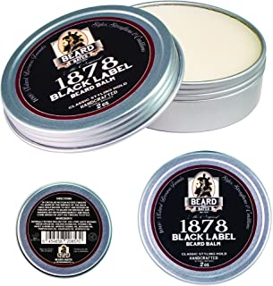 Beard and Bates | 1878 Black Label Beard Balm - Classic Styling Hold | 19th Century Beeswax Formula, Premium Oils, Boutique, Natural Styling Conditioner