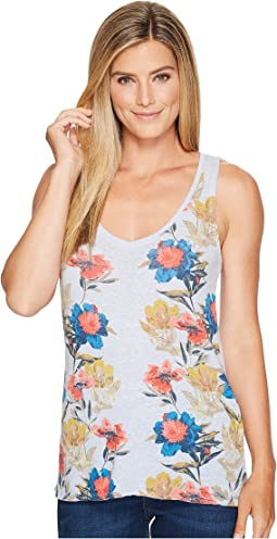 Floral Border Tank Top