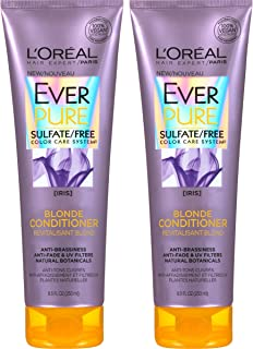 L'Oreal Paris Hair Care Ever Pure Blonde Conditioner Sulfate Free, 2 Count