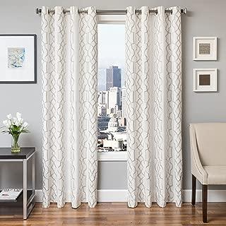 Softline Home Fashions 924TSK711GTUL84 Thorne Single Curtain Panel Champagne