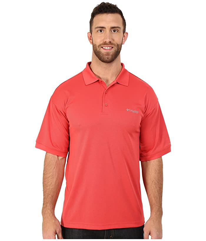 Columbia Big Tall Perfect Casttm Polo (Sunset Red) Men