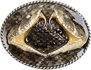rattlesnake head belt buckle