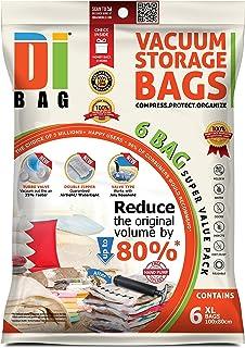comprar comparacion DIBAG 6 Bolsas de almacenaje al vacio de ropa para ahorrar espacio. Para guardar ropa, ropa de cama, almohadas, mantas, co...