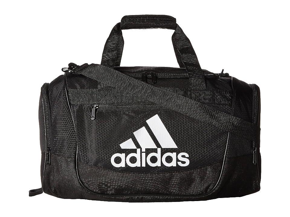 adidas Defender III Small Duffel (Black/White) Duffel Bags