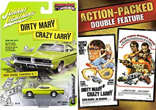 Dirty Mary Crazy Larry DVD + 1969 Dodge Charger R/T Action Pack car Movie Race with the Devil 70's chase Bundle Set