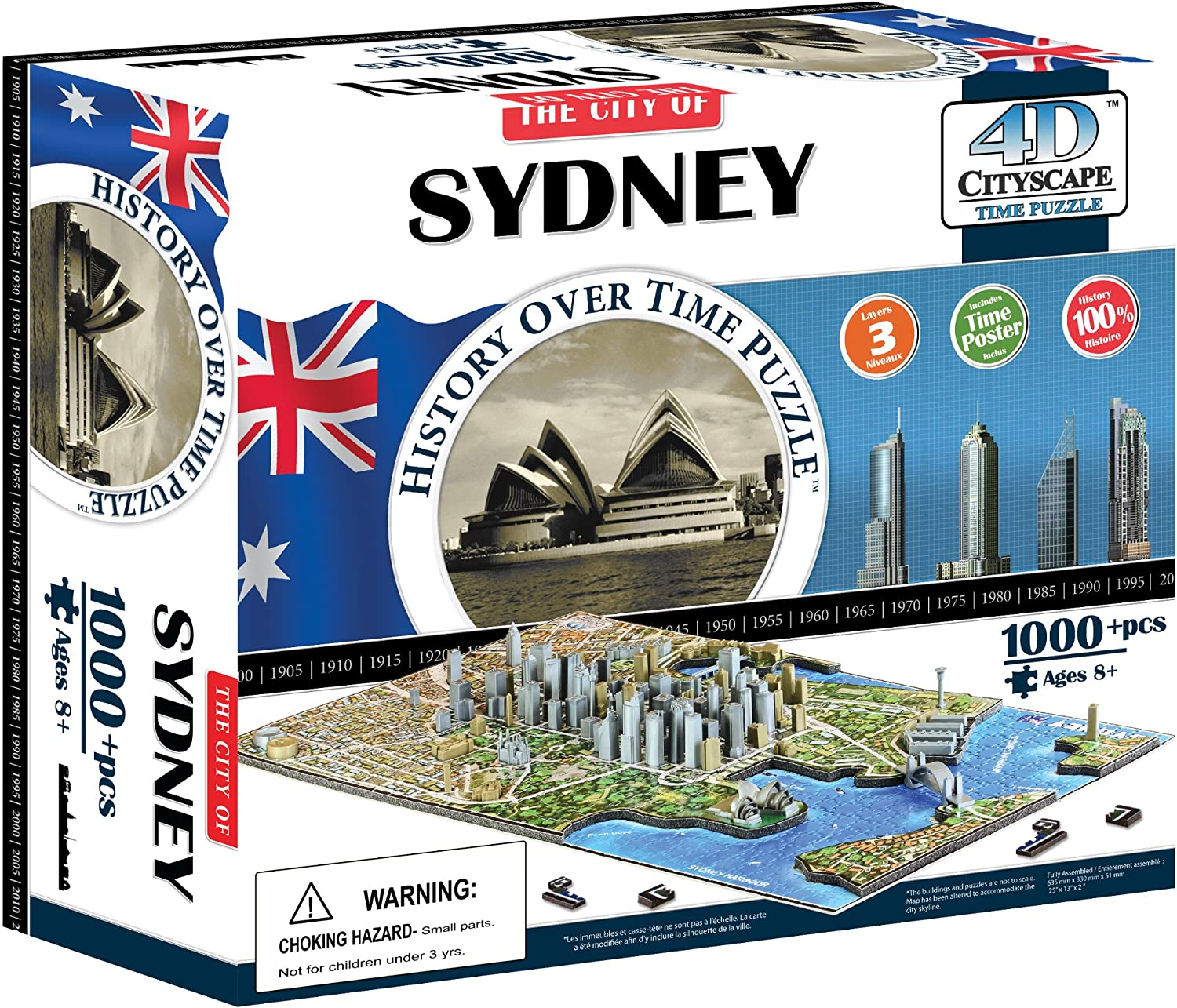 4D Special price for a Jacksonville Mall limited time Cityscape Sydney Puzzle Time