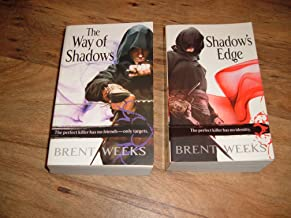 Books 1&2 of Night Angel Trilogy-The Way of Shadows & Shadow's Edge by Brent Weeks. Paperback copies, copyrighted 2008 (Vo...