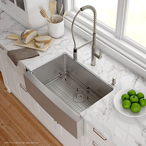 Stainless Steel Farm Sink With Grid Amazon Com