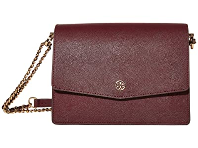 Tory Burch Robinson Convertible Shoulder Bag (Port) Handbags