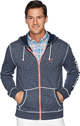 Long Sleeve Washed Full Zip Hoodie