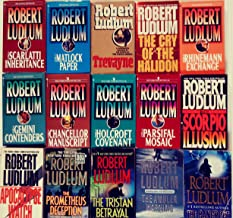 FOURTEEN book set of Standalone Novels by Robert LUDLUM -- Holcroft Covenant / Parsifal Mosaic / Scorpio Illusion / Apocalypse Watch /Prometheus Deception / Tristan Betrayal / Ambler Warning / plus