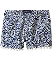 Toobydoo - Navy & White Pom Pom Shorts (Toddler/Little Kids/Big Kids)