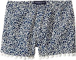 Navy & White Pom Pom Shorts (Toddler/Little Kids/Big Kids)