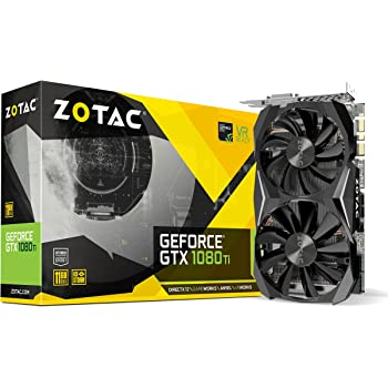 ZOTAC GeForce GTX 1080 Ti Mini 11GB GDDR5X 352-bit PCIe 3.0 VR Ready Super Compact Gaming Graphics Card (ZT-P10810G-10P)