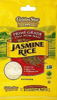Golden Star Prime Grade Star Jasmine Rice Gluten Free one bag 20lb