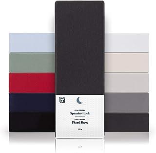 Blumtal - Drap Housse 160x200 Coton (x2) - Drap Housse Jersey 160x200 cm - 100% Coton - Jusqu'à 25cm De Hauteur - Anthracite
