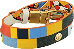 Tory Burch Printed Reversible Double-Wrap Bracelet