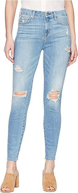 7 For All Mankind - The High-Waist Ankle Skinny w/ Destroy in Heritage Valley 2
