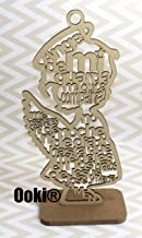 12 Guardian Angel Wings Boy Girl Wood with Stand Laser Cutout Wooden Baptism Centerpiece First Communion Quinceañera Children Kids Party Favors Home Decor Christening (Girl)