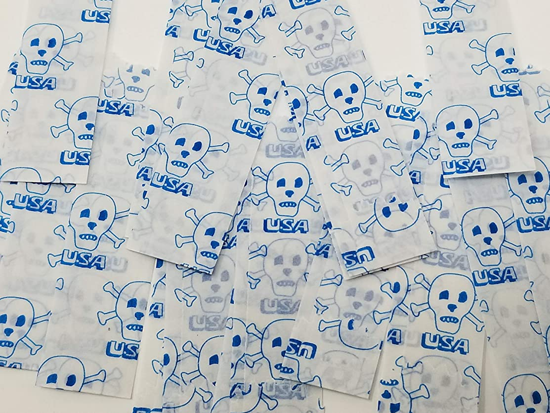 Vellum Glassine Stamp Wax Paper Envelope Bags, Small, 20mm/22mm, 600pcs/bx (USA Skull)