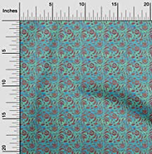 oneOone Cotton Cambric Elf Green Fabric Batik Fabric for Sewing Printed Craft Fabric by The Yard 42 Inch Wide