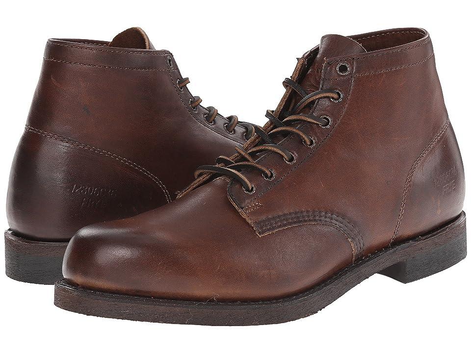 Frye Prison Boot (Dark Brown Oiled Vintage) Men